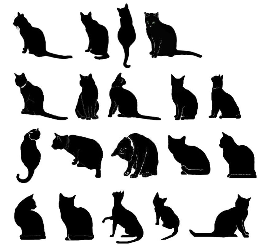 黒猫の無料イラスト集 可愛い系 かっこいい オシャレ系タイプ別に分類 ねこマイスター